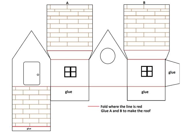 Mini paper house-1